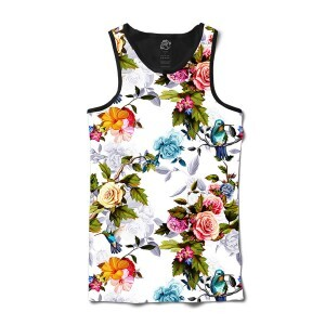 Camiseta BSC Regata Blue Bird In Bloom Sublimada Preto/Branco