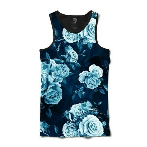 Camiseta BSC Regata Blue Rose Full Print Preto