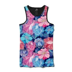 Camiseta BSC Regata Flower Design Full Print Preto