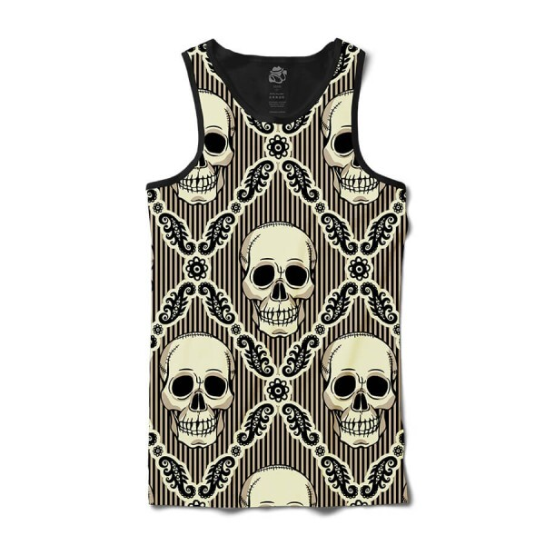 Camiseta BSC Regata Striped skull Full Print Preto