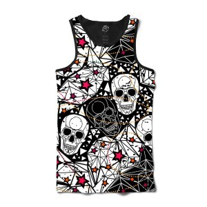 Camiseta BSC Regata Star Diamond Skull Full Print Preto