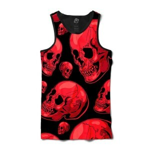 Camiseta BSC Regata Red Skull Sublimada Preto