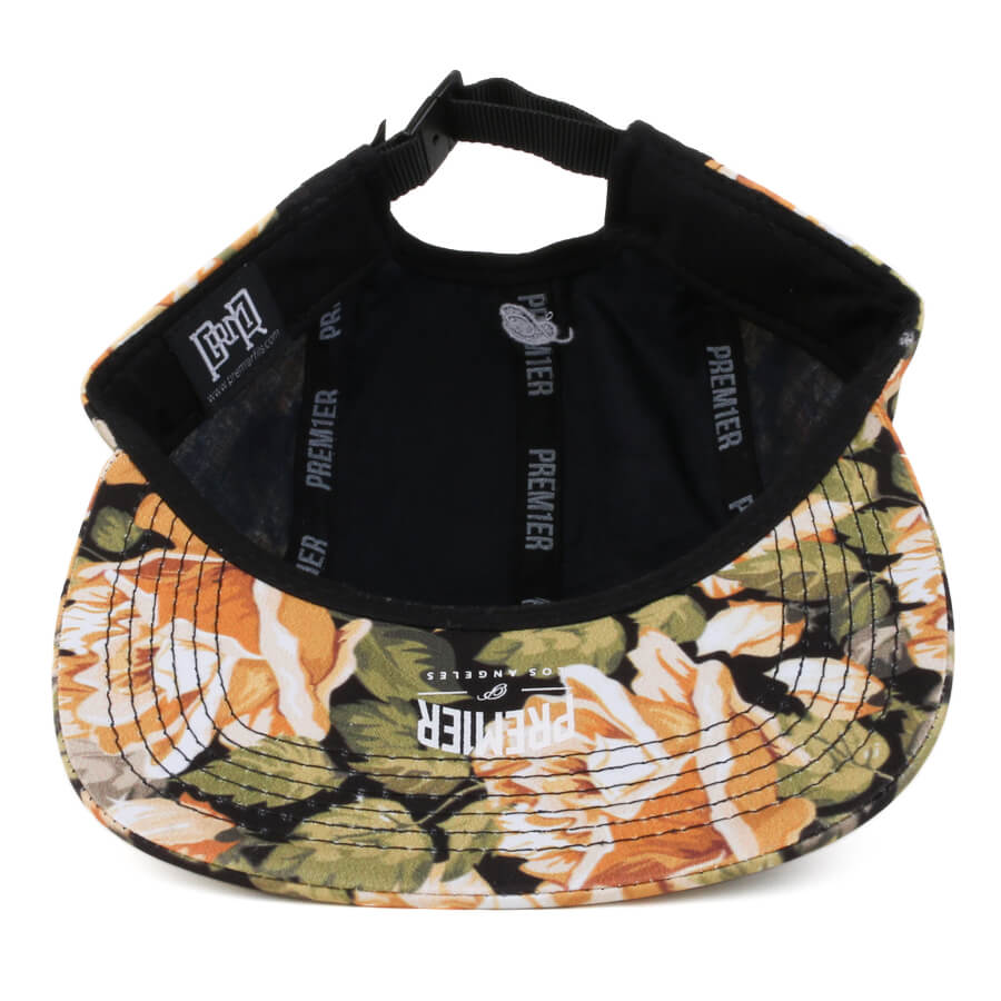 Boné Premier Snapback Five Panel Los Angeles Preto/Floral