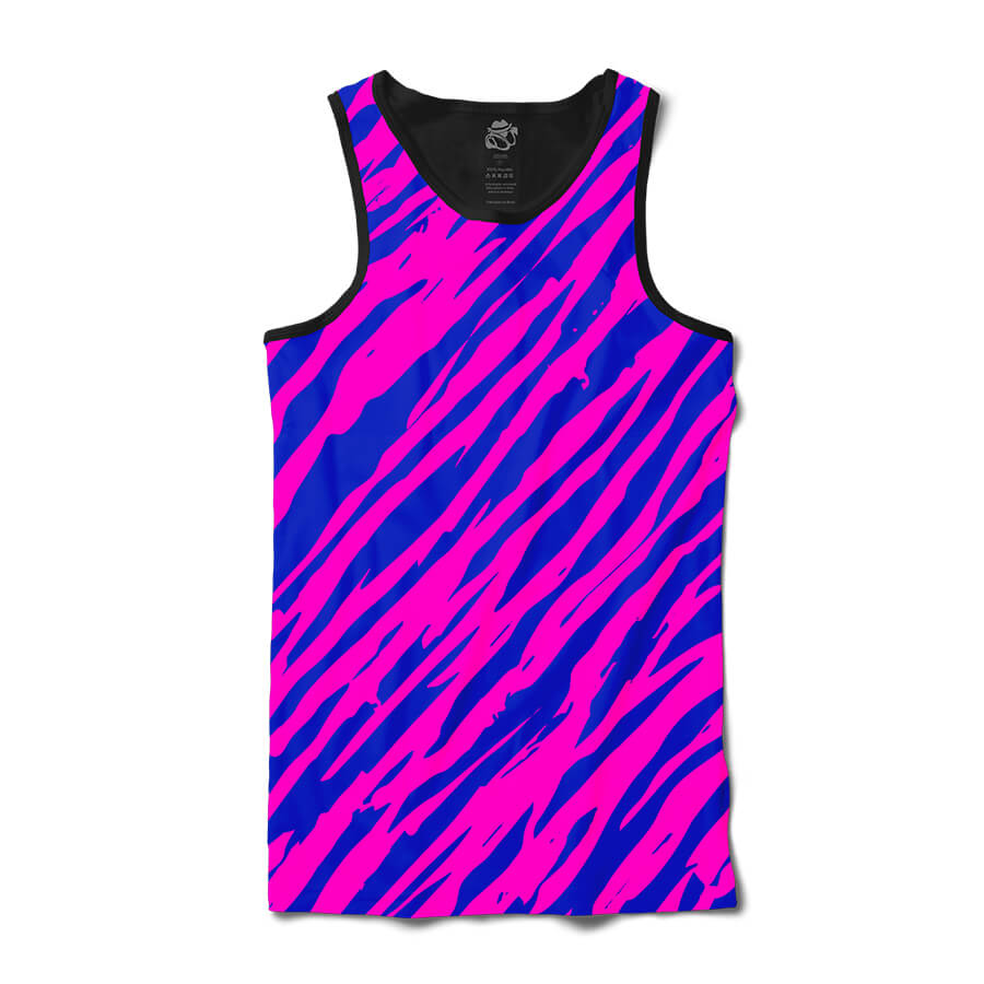 Camiseta BSC Regata Zebra Stripes Sublimada Preto/Roxo