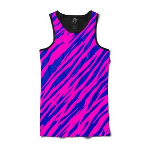 Camiseta BSC Regata Zebra Stripes Full Print Preto/Roxo