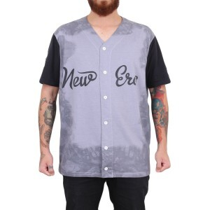 Camisa New Era Baseball Cinza