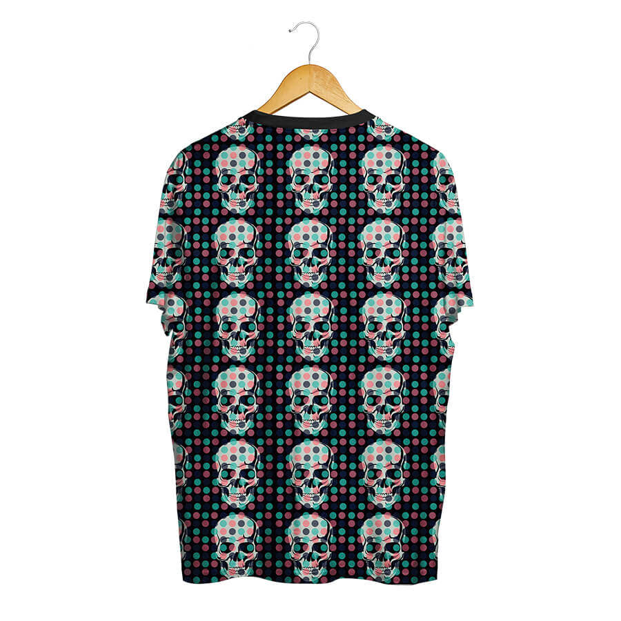 Camiseta BSC Skull Little Pot Total Full Print Preto
