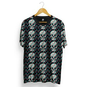 Camiseta BSC Skull Little Pot Full Print Preto