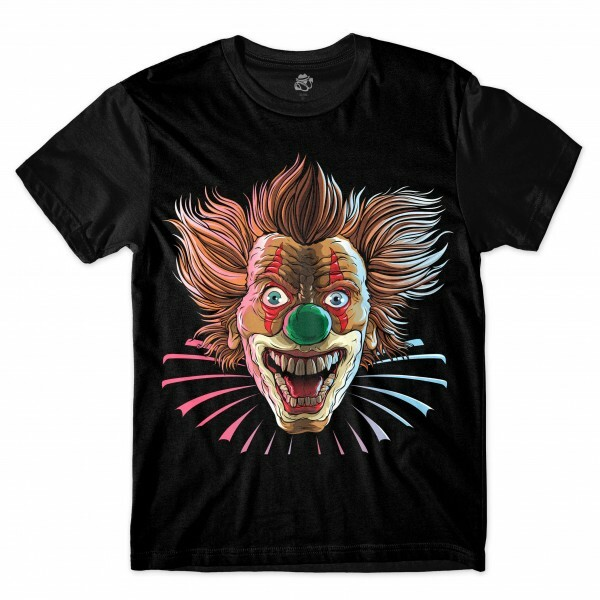 Camiseta BSC Evil Clown Full Print Preto