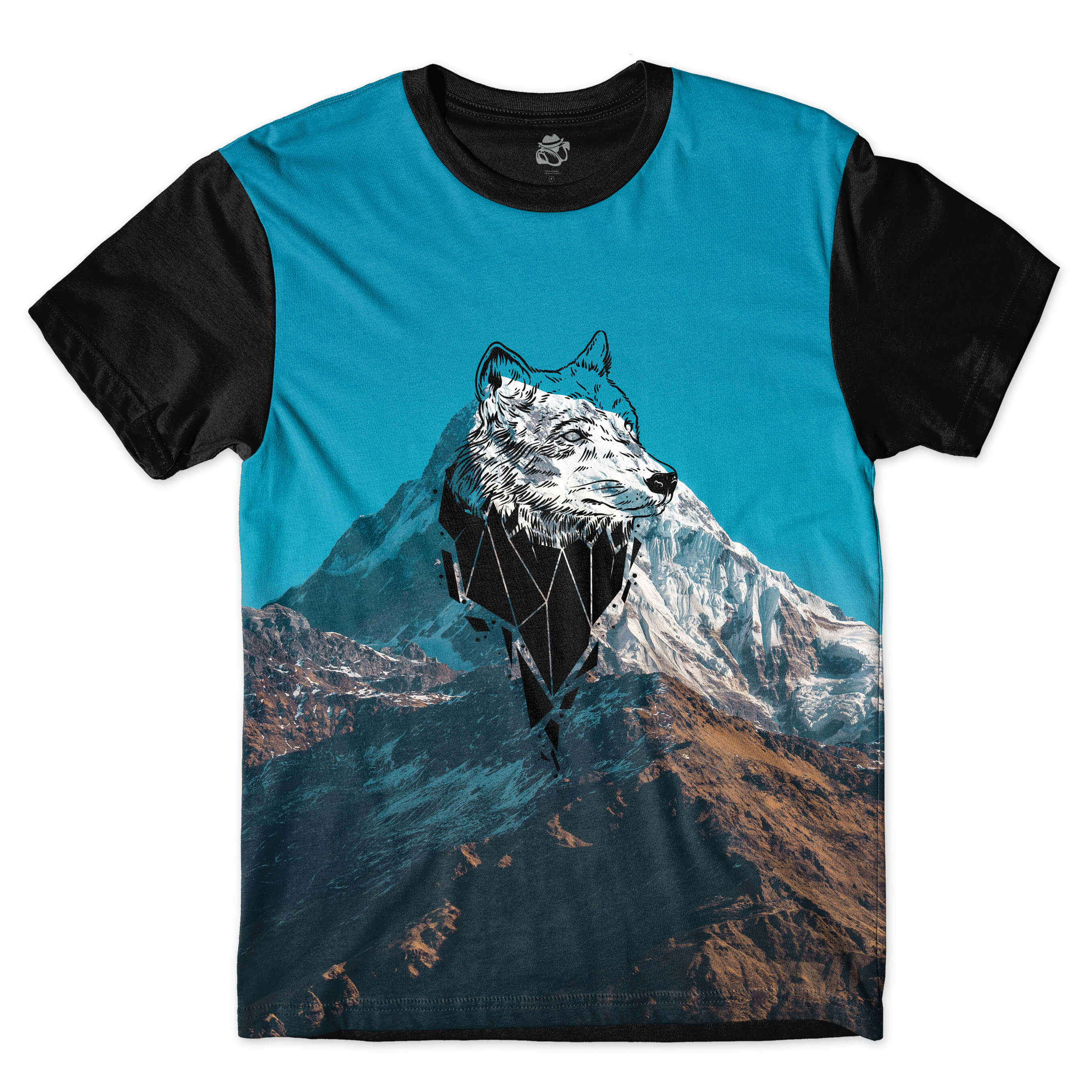 Camiseta BSC Wolf Mountain Full Print Preto