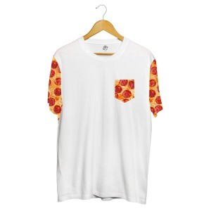 Camiseta BSC Pizza Pocket Full Print Branco