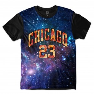 Camiseta Los Fuckers Chicago Galaxy Pizza Full Print Preto/Azul