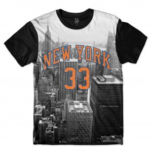Camiseta BSC New York 33 City Sublimada Preto/Cinza