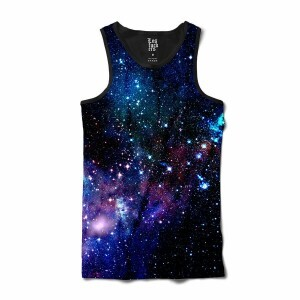 Camiseta BSC Regata Galaxy Sublimada Preto/Azul