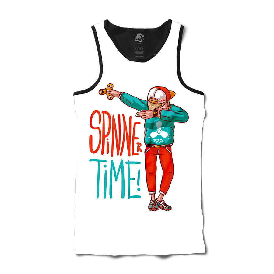 Camiseta BSC Regata Spinner Time Sublimada Preta Branca