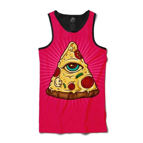 Camiseta BSC Regata Pizza Illuminati Sublimada Preta Rosa
