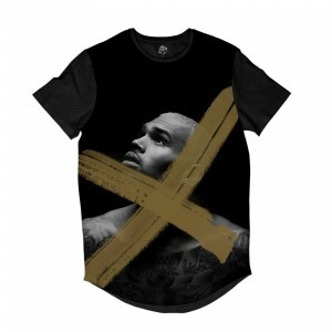 Camiseta BSC Longline Chris Brown X Sublimada Preta