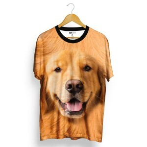 Camiseta 3D Wear Golden Retriever Total Full Print