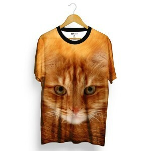 Camiseta 3D Wear Red Cat Total Full Print