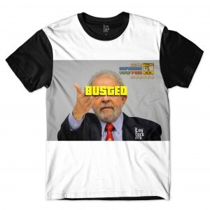 Camiseta Los Fuckers Busted Full Print Preto Branco