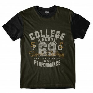 Camiseta Attack Life College 92 Full Print Preta