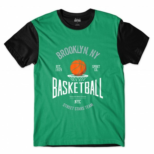 Camiseta Attack Life Brooklyn Full Print Preta
