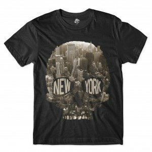 Camiseta BSC Caveira New York City Sublimada Preto