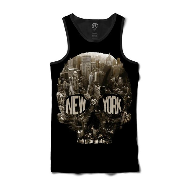 Regata BSC Caveira New York City Full Print Preto