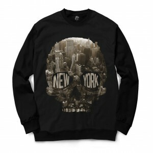 Moletom Gola Careca BSC Caveira New York City Sublimada Preto