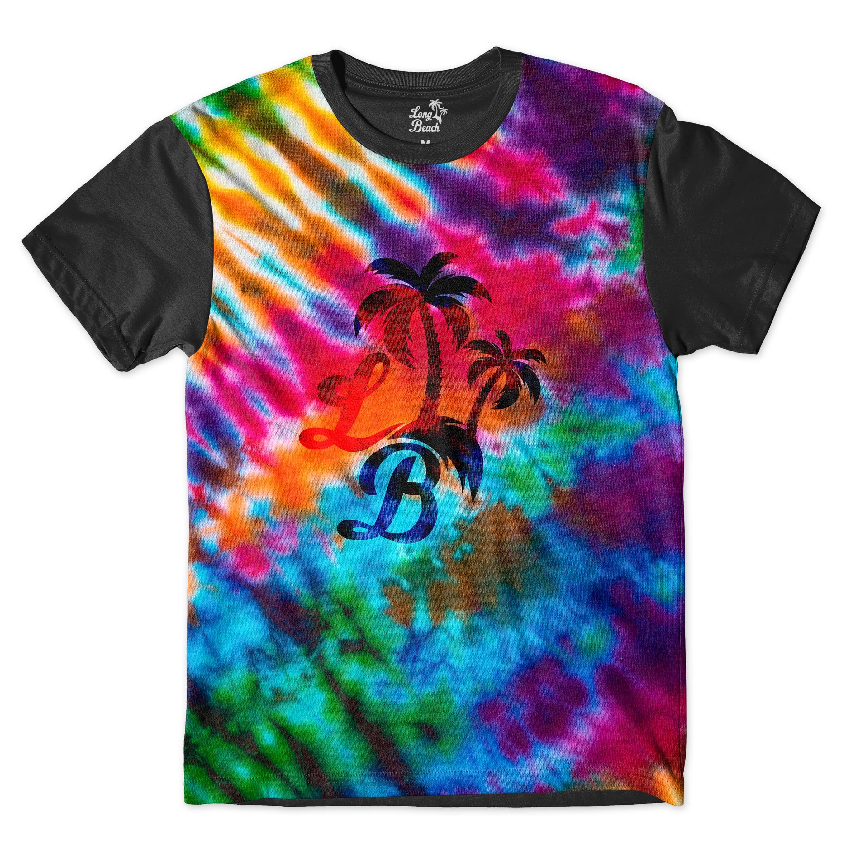 Camiseta Long Beach Psicodélica Tie Dye Full Print Colors