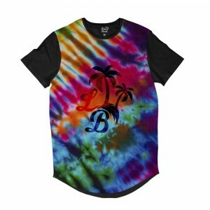 Camiseta Longline Long Beach Psicodélica Tie Dye Full Print Colors