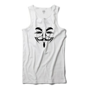 Regata Insane 10 Hacker Máscara Guy Fawkes Branco