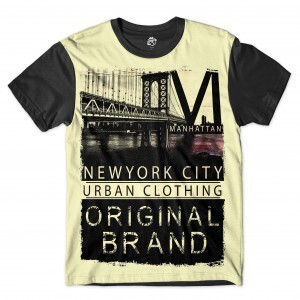 Camiseta BSC New York City Original Full Print Preto
