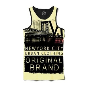 Camiseta Regata BSC New York City Original Full Print Preto
