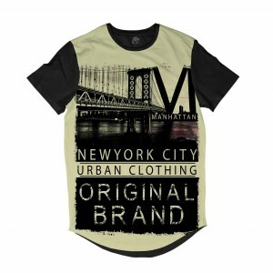 Camiseta Longline BSC New York City Original Sublimada Preto