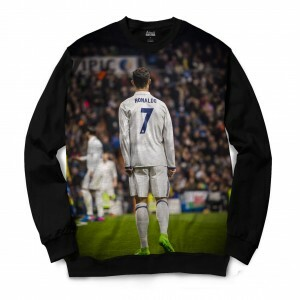 Moletom Gola Careca Attack Life Deuses do Futebol CR7 Full Print Preto