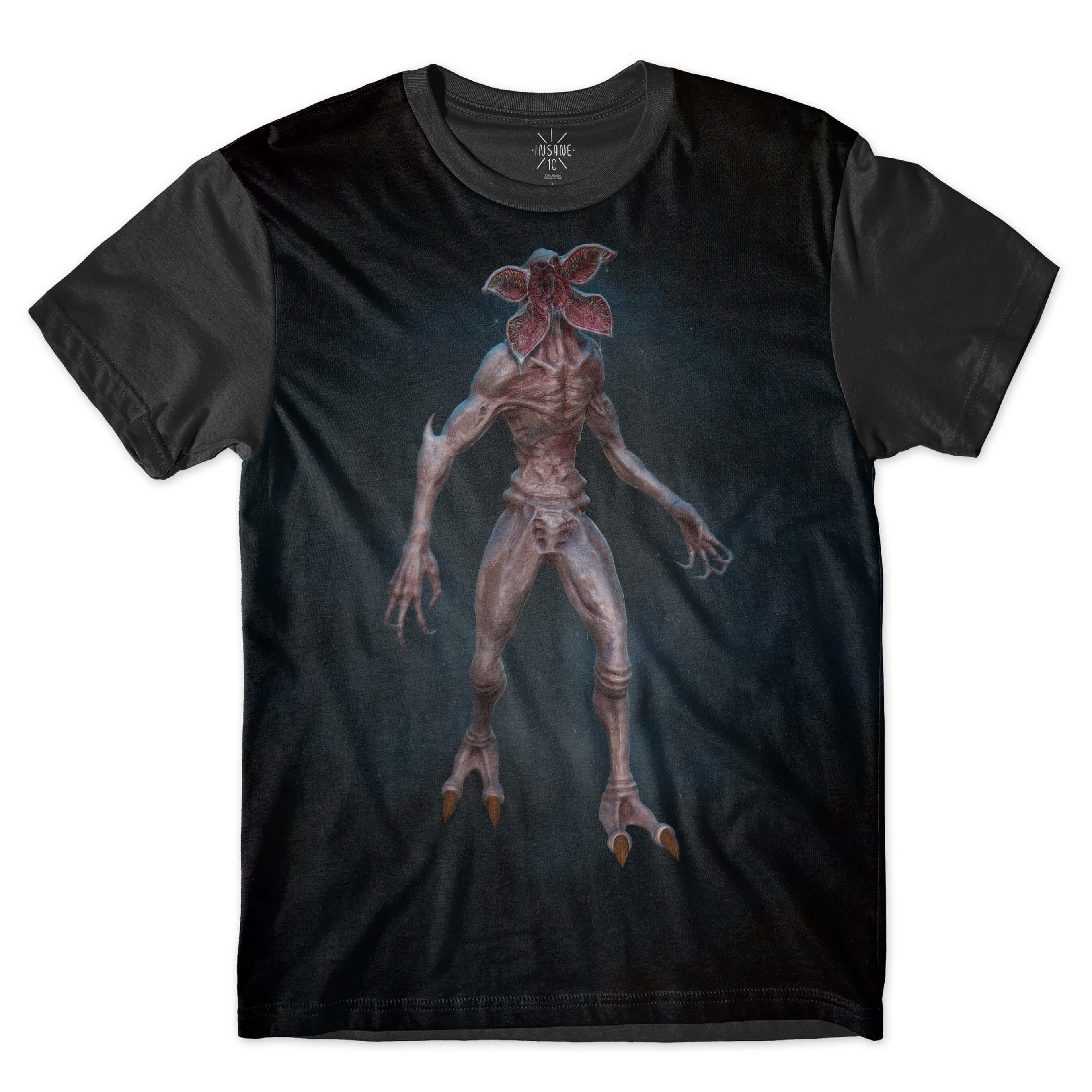 Camiseta BSC Stranger Things Demogorgon Sublimada Preto