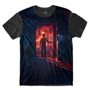 Camiseta BSC Stranger Things Will Byers Porta Sublimada Preto
