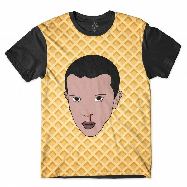 Camiseta Insane 10 Stranger Things Eleven Waffle Full Print Preto