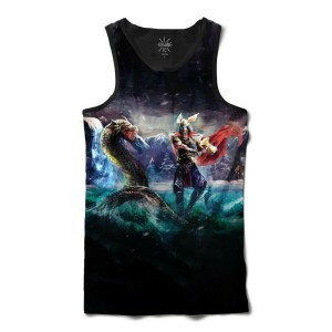 Regata Insane 10 Cultura Viking Thor vs Serpente Full Print Azul