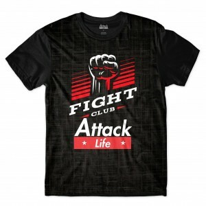 Camiseta BSC Lutas e Musculação Fight Club Sublimada Preto