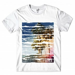 Camiseta Long Beach Long Beach California Full Print Branco