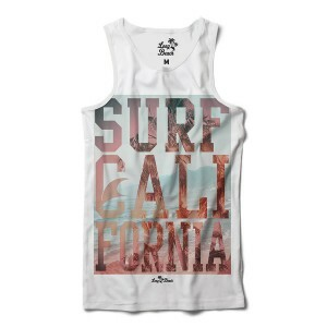 Camiseta Regata Long Beach Cali Surf Full Print Branco