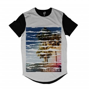 Camiseta Longline BSC BSC California Sublimada Branco