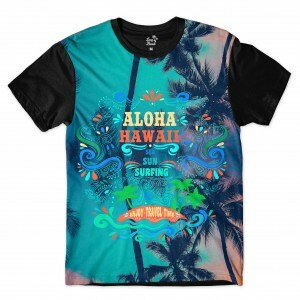 Camiseta BSC Hawaii Aloha Sublimada Colors