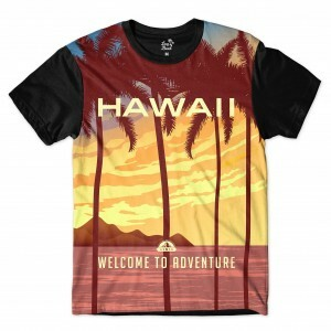 Camiseta BSC Hawaii Aventura Sublimada Marrom