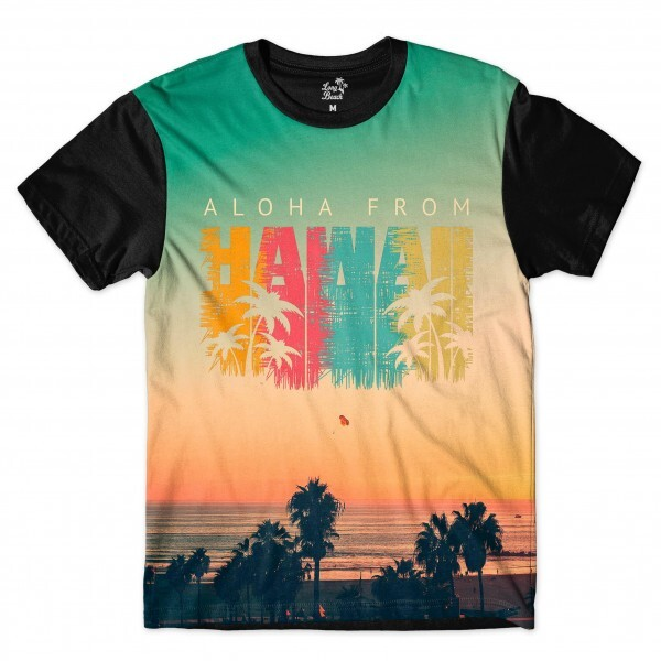 Camiseta BSC Hawaii Nascer do Sol Sublimada Colors