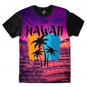 Camiseta BSC Hawaii Purple Sky Sublimada Roxo Brilho