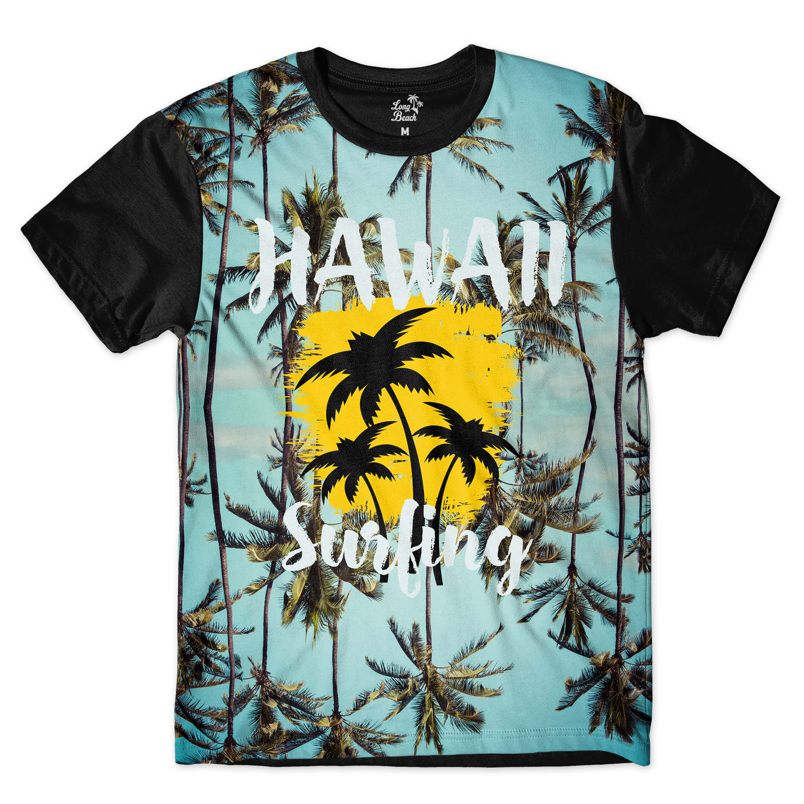 Camiseta Long Beach Hawaii Surf Full Print Azul