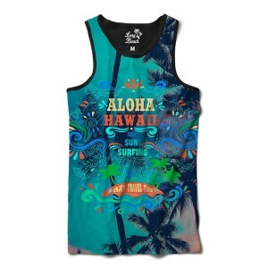 Camiseta Regata BSC Hawaii Aloha Sublimada Colors